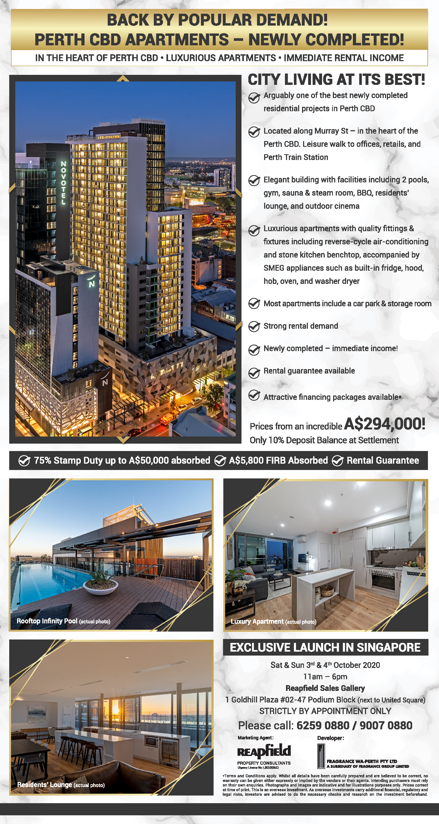 Perth CBD Apartment - Newly Completed (Event) - Reapfield ...