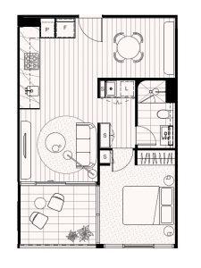 1-Bedroom 1-Bathroom